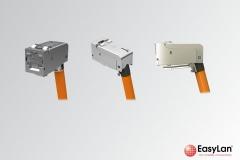fixLink SL Keystone KAT6A ISO IEC gewinkelt